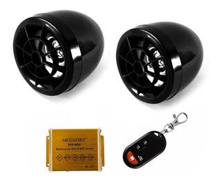 Bocinas Moto Estereo Bluetooth Usb Radio Fm Micro Sd Alarma /e