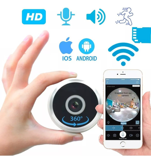 Camara De Seguridad 360 Wifi Microfono Parlantes Grabacion