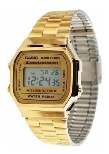 Relógio Original Casio A-168wg-9wdf Dourado Envio Rápido