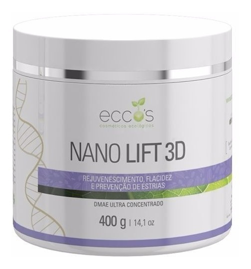 Nano Lift 3d Dmae Ultra Concentrado Eccos Cosméticos 400g
