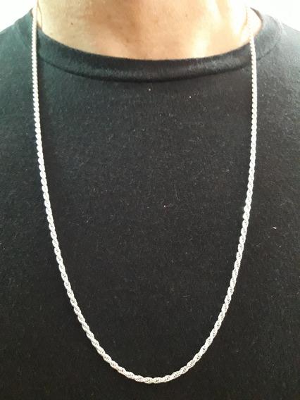 Corrente Masculina Cordão Baiano 70cm Em Prata 925 + Brinde