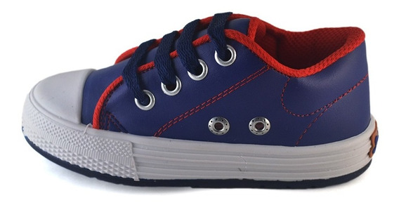Zapatilla Ecocuero Azul Small Shoes