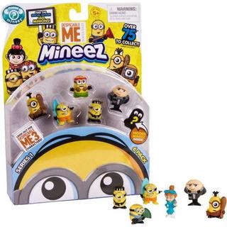 Minions Mineez Pack X 6 Figuras Coleccionables Tv Educando