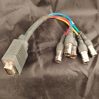 Cable Kramer Vga Macho A Bnc Hembra X5 Rgbvh 25cm