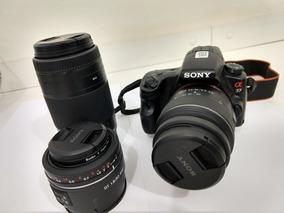 Camera Sony Alpha 37 Dslr C/ Lentes 18-55 - 75-300 - 50mm