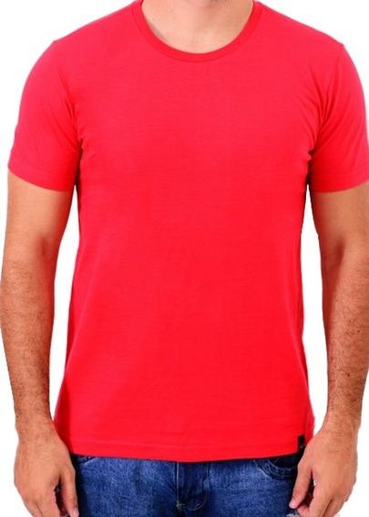 Camiseta Básica 100% Algodão Vermelha Cool Wave