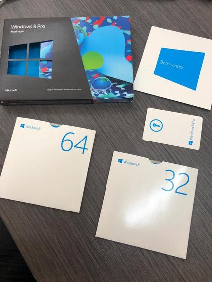 Microsoft Windows 8 Pro - 32 & 64 Bits Original/midia Fisica