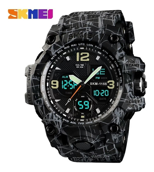 Relógio Skmei 1155 Luxo Militar Sport Eletrônico Digital