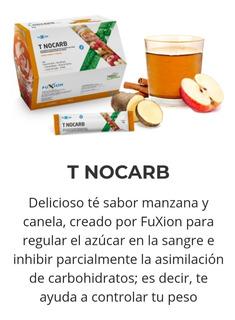 T Nocarb, Fuxion Bajar De Peso Y Regula Función D Tu Glucosa
