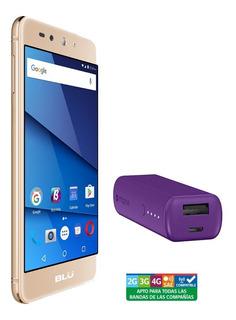 Smartphone Blu Grand Xl Lte Gold + Batería Mophie 2600 Mora