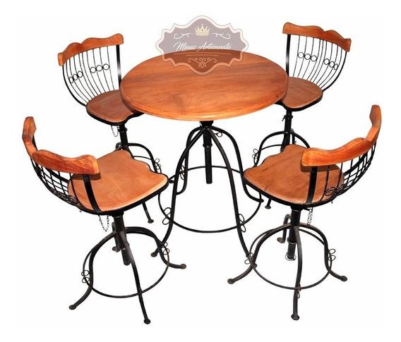 Mesa Cadeiras Cozinha - 1 Mesa E 4 Banquetas - Super Oferta