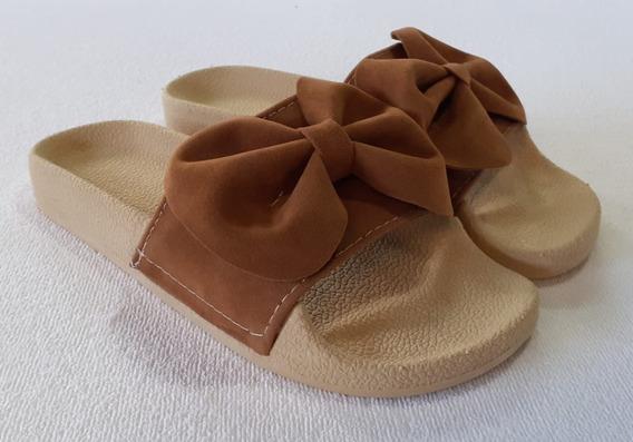Sandalias De Moño Ojotas Chatitas Moda Mujer