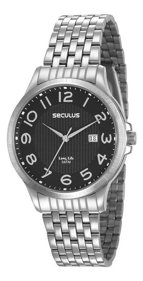 Relógio Seculus Masculino 23601g0svna1 Clássico Prateado