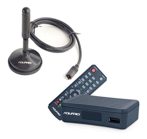 Conversor Digital Aquário Full Hd + Antena Interna Dtv 4000s
