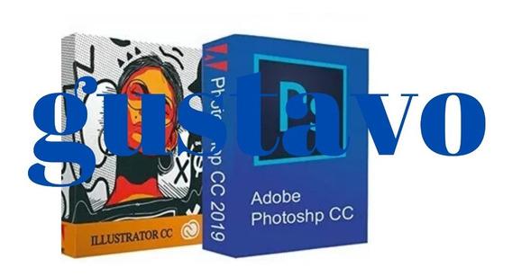 Illustrator+ Photoshop Cc2019(envio Via Mail)