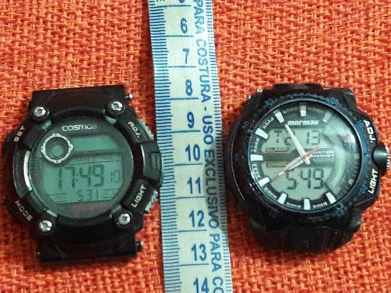 Lote 02 Relógio Cosmos Os41388 Mormaii Bt108 Leia Descrição