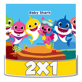 Kit Imprimible Baby Shark Cotillón Fiestas Temáticas 2x1