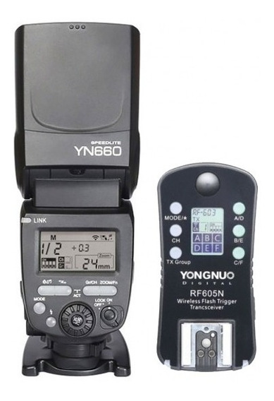 Flash Yongnuo Yn660 Y Disparador Rf605 Para Nikon