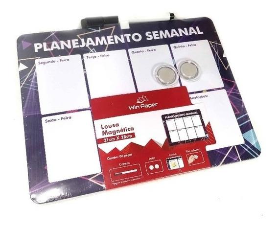 Lousa Planejamento Semanal Agenda Magnetico Mural De Recados