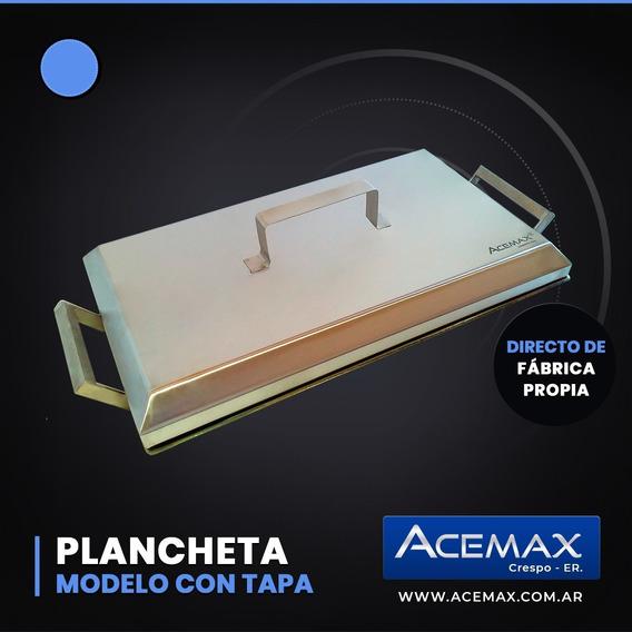Plancheta 2 Hornallas Con Tapa Acero Inoxidable