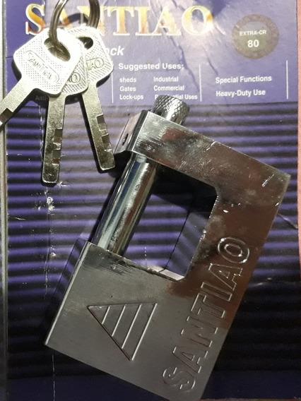 Kit 3 Cadeados Importados Invioláveis Titanium 80 Mm