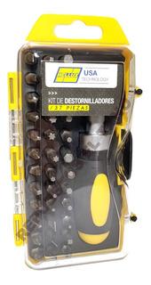 Set Destornillador 37 Piezas Crique + 36 Puntas 25mm