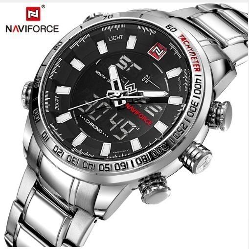 Relógio Nf9093 + Caixa De Presente Naviforce Super Elegante