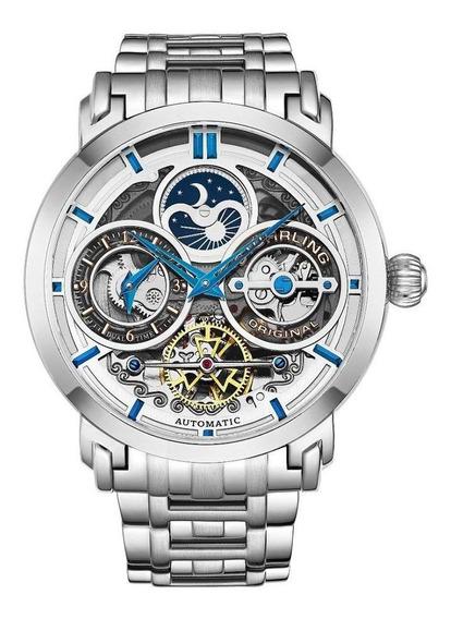 Relógio Stuhrling - Luciano 371b 47mm Skeleton