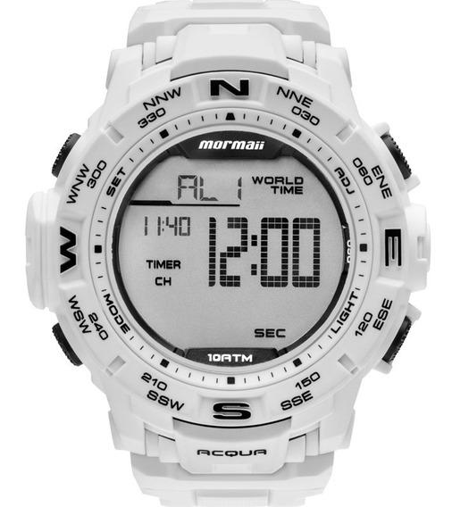 Relógio Mormaii Masculino Acqua Branco Mo1173e/8b