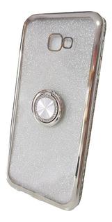 Capa Celular Samsung J4 Plus Prata Silicone Case Capinha J4