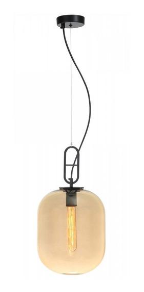 Pendente De Vidro Khao 45cmx25cm Bella Iluminação Hf