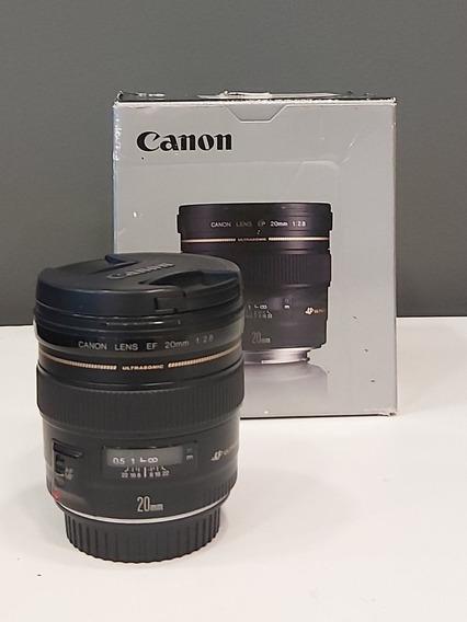 Lente Canon 20mm 2.8 Ultrasonic Semi Nova Sem Riscos