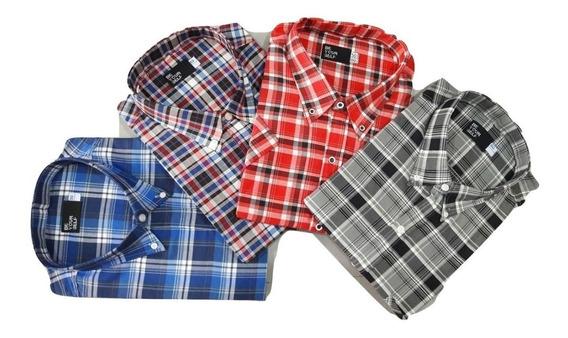 Camisa Talle Especial Hombre Manga Larga 46-48-50-52 Premium