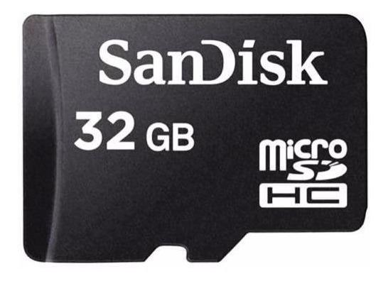 Cartão De Memória Microsd Sandisk 32gb C/ Adaptador Para Sd