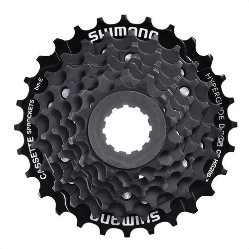 Imagen 1 de 4 de Piñon Bicicleta Shimano Acera Hg200 7 Velocidades 12-28 Bk