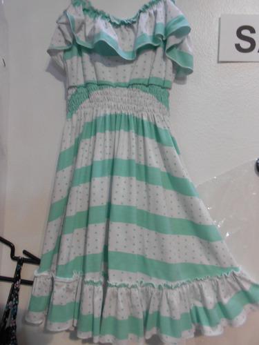 b5ebcd5d3 Vestido Solera De Modal Para El Verano - Vestidos para Niñas Verde ...