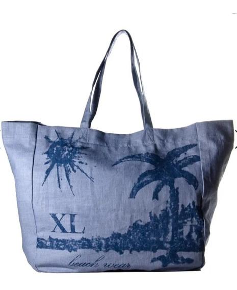 Bolso Xl Extra Large Celeste Playa Nuevo Original