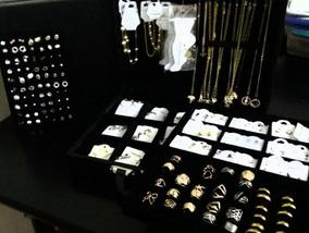 Atacado Kit 215 Pçs Semi-jóias Folheadas + Linda Maleta