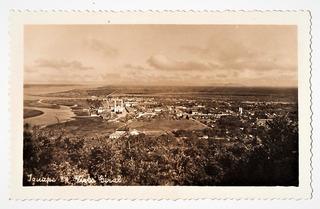Cartao Postal Fotografico Iguape - Sp Vista Parcial Anos 40