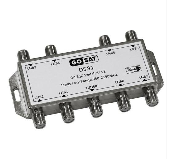 Switch Llave Diseqc Gosat Ds81 8x1 Banda C Ku Antena Satelital