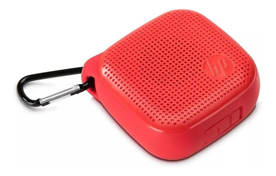 Caixa De Som Speaker Bluetooth Hp S300 Vermelho