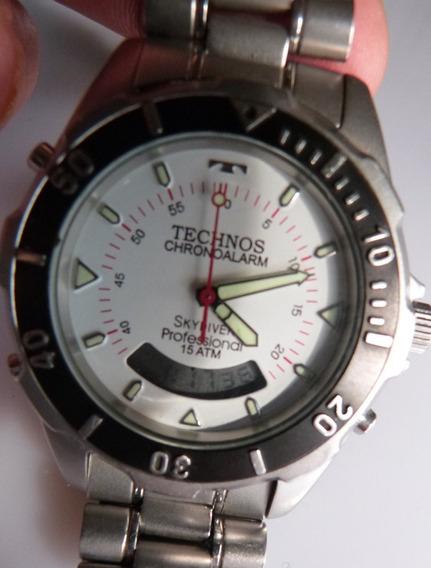 1 Relogio Technos Skydiver 150 Metros Profissional