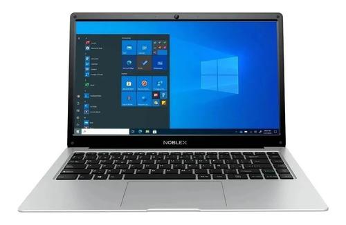 "Imagen 1 de 4 de Notebook Noblex N14W21 plata 14.1"", Intel Celeron N3350  4GB de RAM 500GB HDD, Intel HD Graphics 500 1366x768px Windows 10 Home"