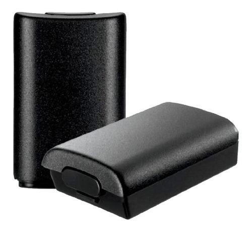 Tapa De Bateria Para Control Xbox 360 Negra Portapila *2