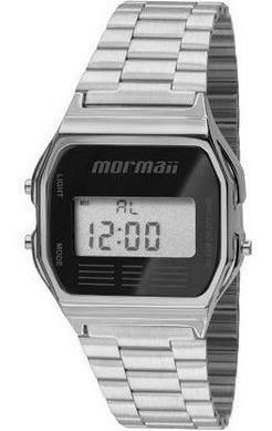 Relógio Unissex Digital Mormaii Modelo Classico Antigo Prata