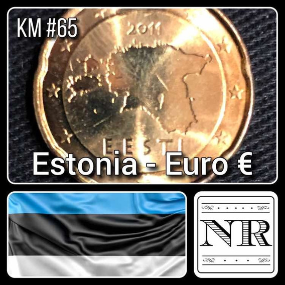 Estonia - 20 Euro Cents - Año 2011 - Km # 65 - Mapa