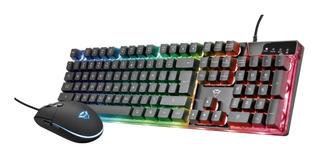 Combo Kit Teclado + Mouse Trust Gxt 838 Azor Iluminado