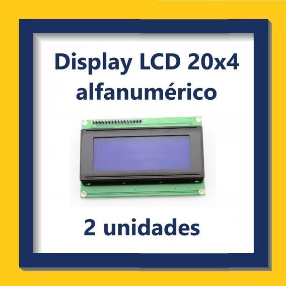 Display Lcd Alfanumérico 20x4 - Kit Com 2 Unidades