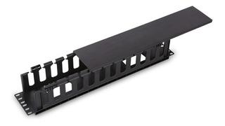 Organizador De Cable Horizontal Rack, Plastico, Un Lado, 2u