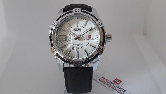 Relógio Naviforce 9117 Original Pulseira Couro